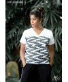 ABSTRACT PRINTED SQUARE SHAPE TEE