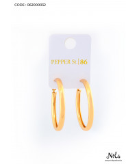 JOVONA SIMPLE EMPTY LARGE CIRCLE EARRING